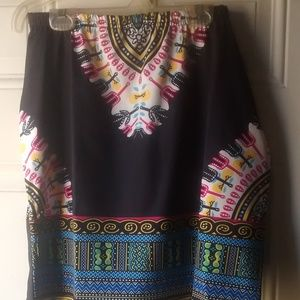 Dresses & Skirts - Multi Colored Tribal Print Skirt